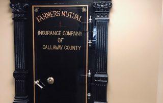 Antique Bank Vault Safe Iron Door of Farmers' Mutual Insurance of Callaway County Missouri